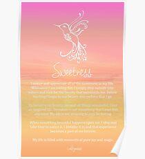 Affirmation ~ SWEETNESS Poster
