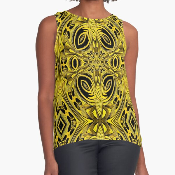 Golden Gratings (4) Sleeveless Top