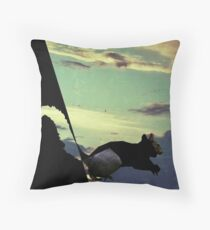 black squirrel  Throw Pillow