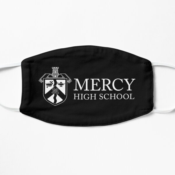 Mercy Shield Logo with Text on Black Mask