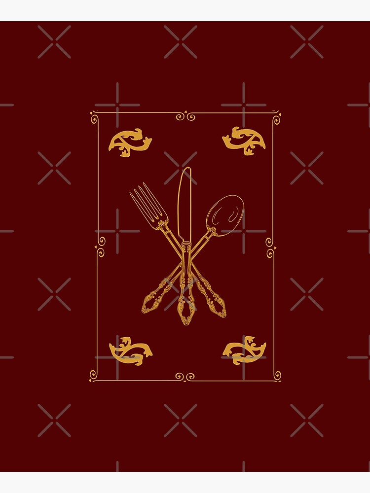 Just Add Magic Utensils Gold with Border by symbolized