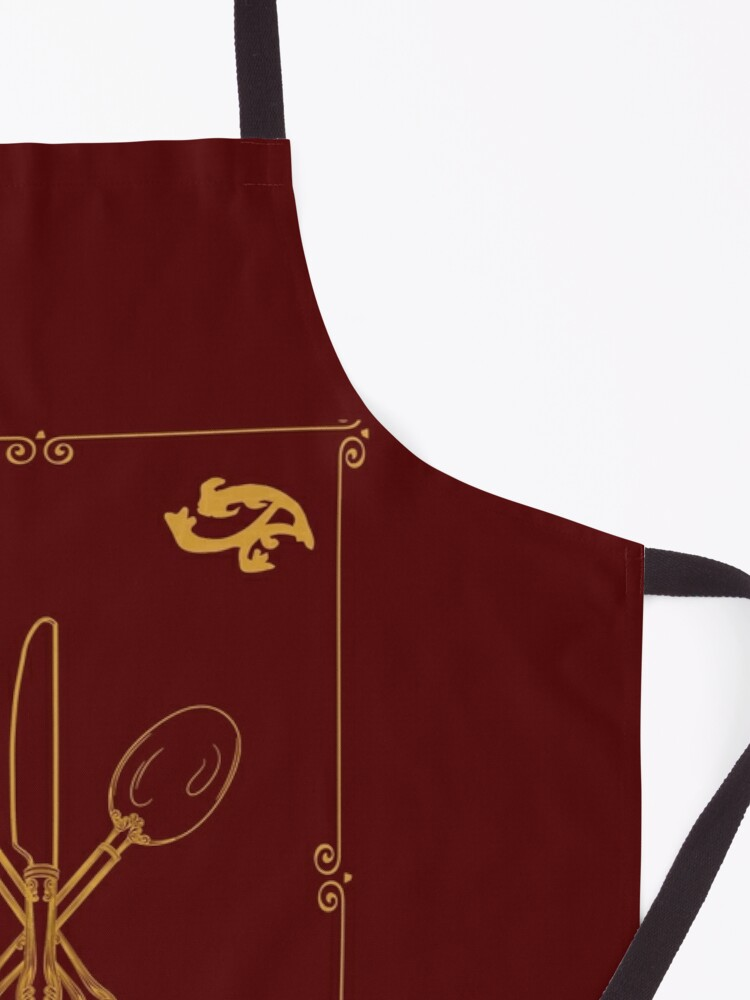 Alternate view of Just Add Magic Utensils Gold with Border Apron