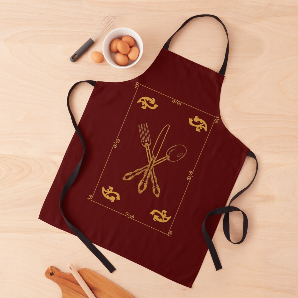 Just Add Magic Utensils Gold with Border Apron