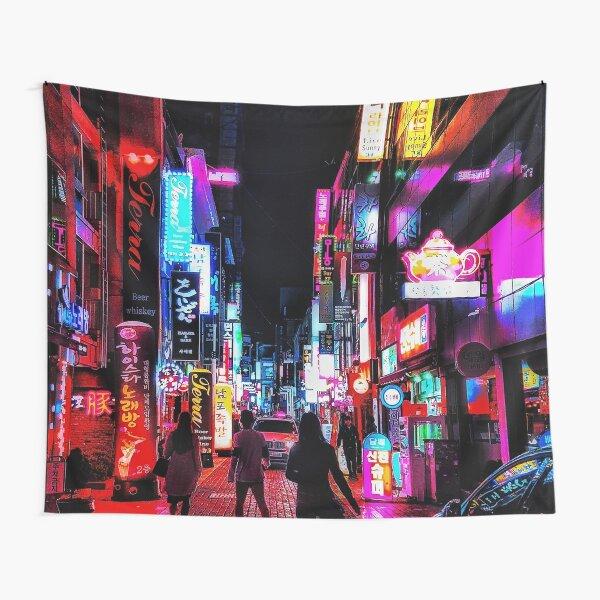vibrant nights Tapestry