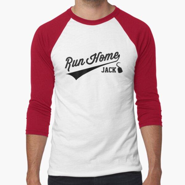 Run Home Jack! Baseball ¾ Sleeve T-Shirt