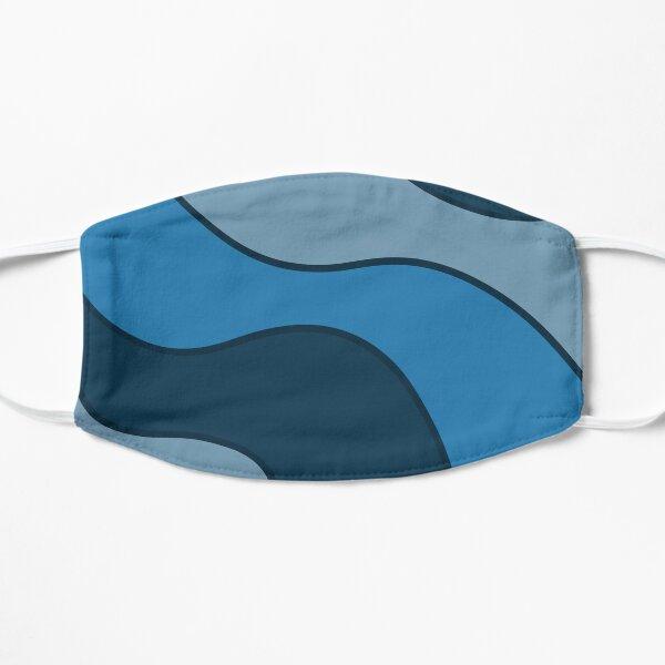 Blue Waves Flat Mask
