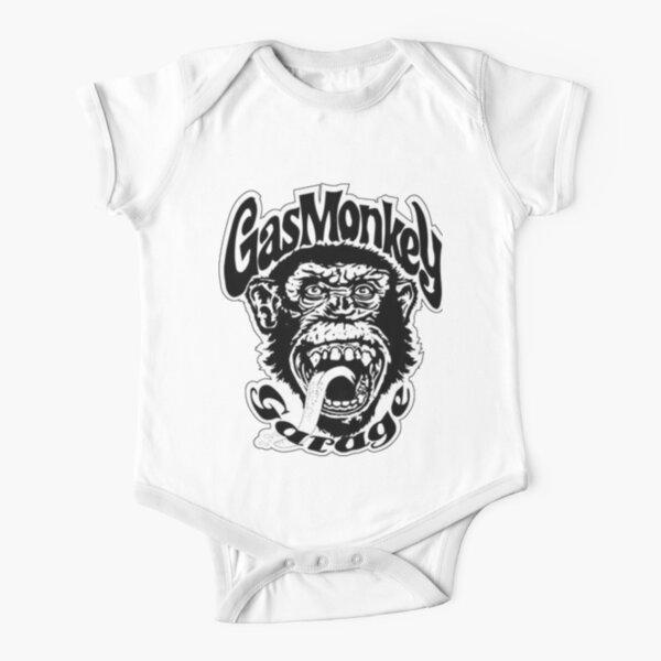 Garaje Gas Monkey Body de manga corta para bebé