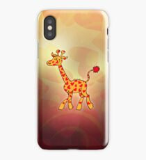 Red Heart Spotted Giraffe iPhone Case