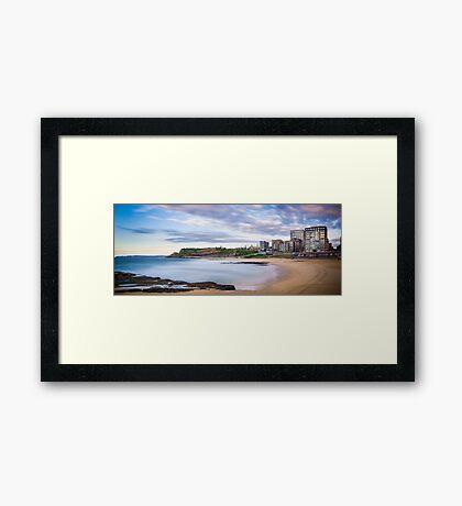 Newcastle Beach Sunrise Framed Print