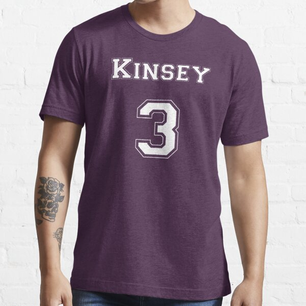 Kinsey3 - White Lettering Essential T-Shirt