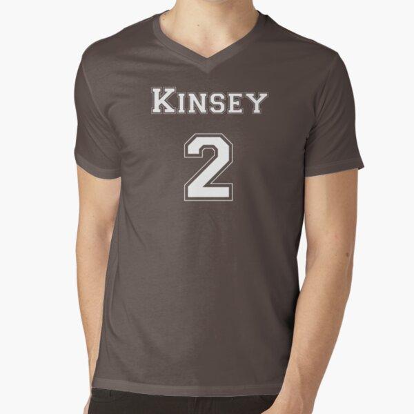 Kinsey2 - White Lettering V-Neck T-Shirt