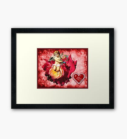 Happy Valentines Day Framed Print