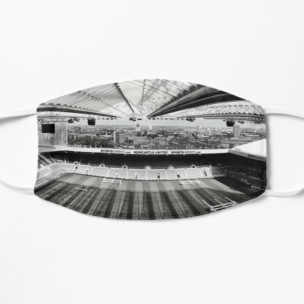 Newcastle United Football Club Black & White Photography Flat Mask