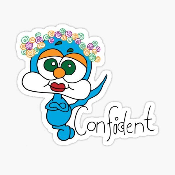 Confident Spiffy Original  Sticker