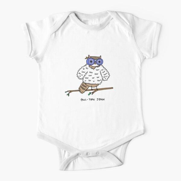 Owl-ton John Short Sleeve Baby One-Piece
