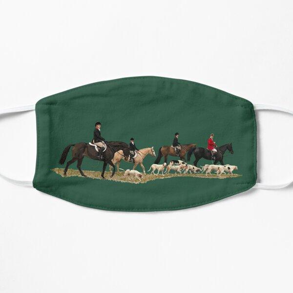 Fox Hunting Horses & Dogs Illustration Mask