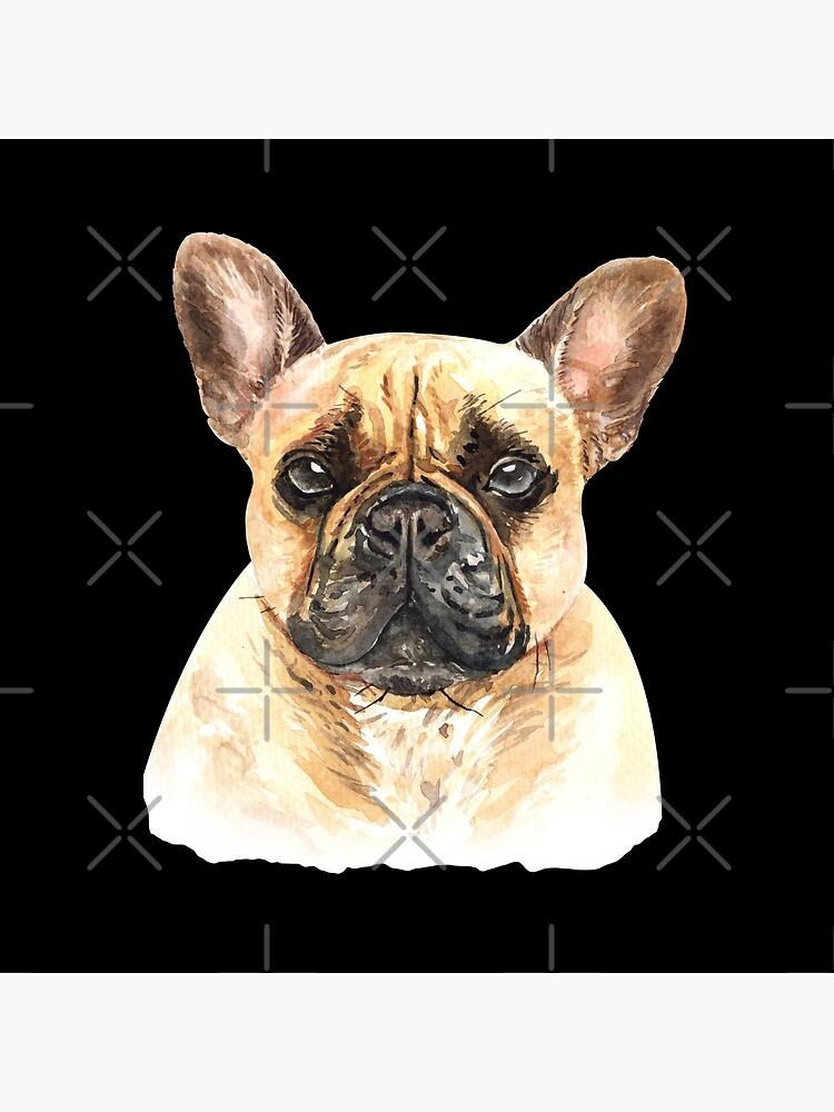 Watercolor  French Bulldog Dog by dog-gifts
