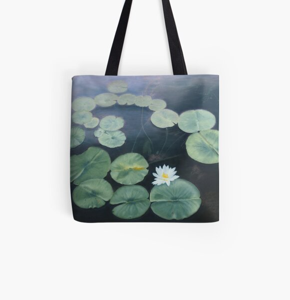 Water Lily All Over Print Tote Bag