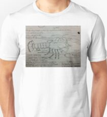 A Hand Drawn Lobster with Arthropoda  Facts T-Shirt