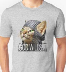 God wills it - Kitty Cat Crusader Unisex T-Shirt