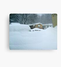 My Van is Somewhere Under That Snow.... Canvas Print