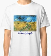 Vincent Van Gogh - Wheat Field Under Threatening Skys Classic T-Shirt