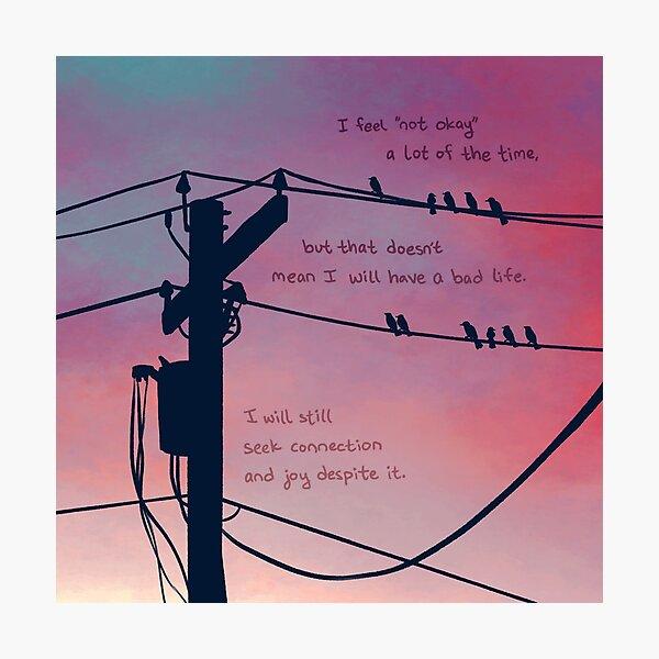 Sunset Powerlines Photographic Print
