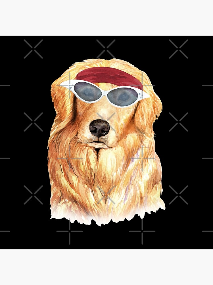 Watercolor  Golden Shepherd shades,gym,exercise, by dog-gifts