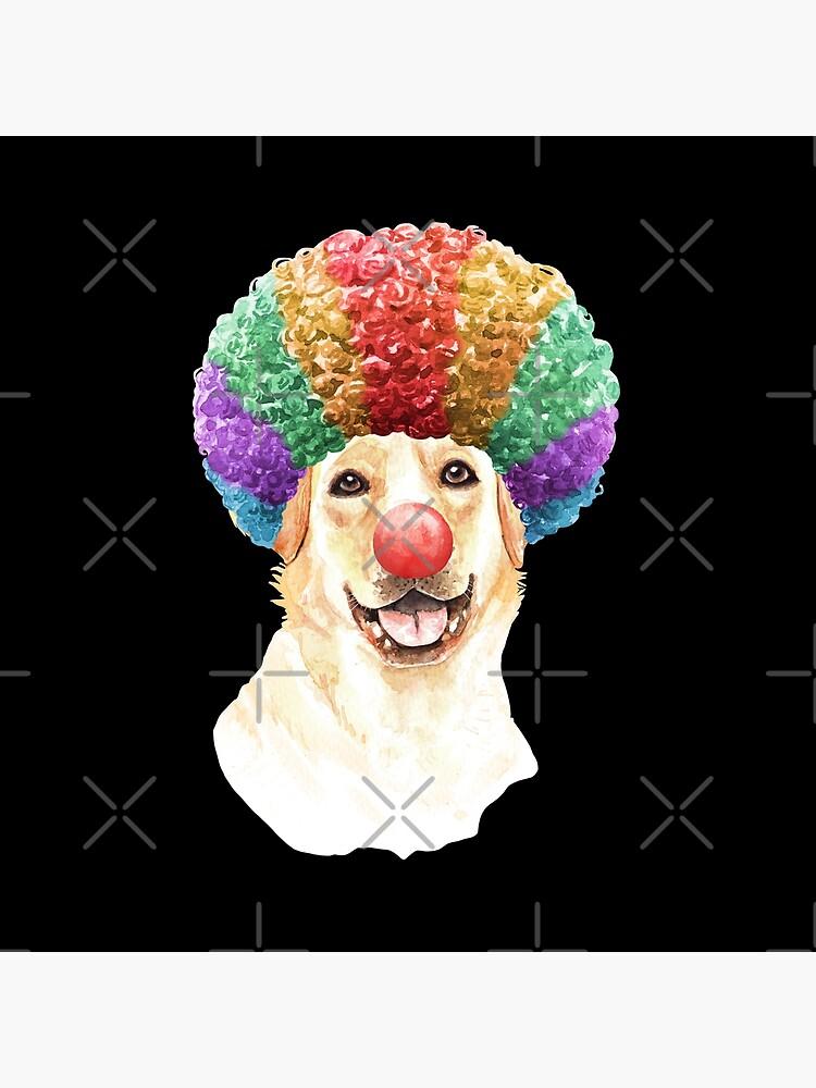 Watercolor  Labrador Retriever Clown by dog-gifts