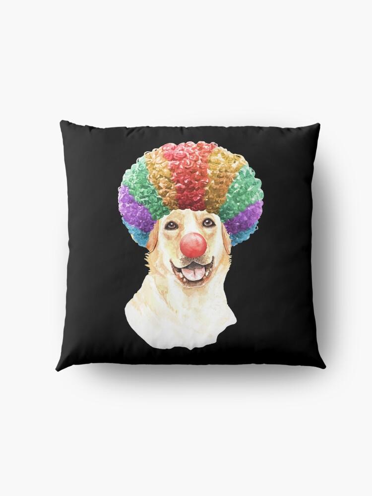 Alternate view of Watercolor  Labrador Retriever Clown Floor Pillow