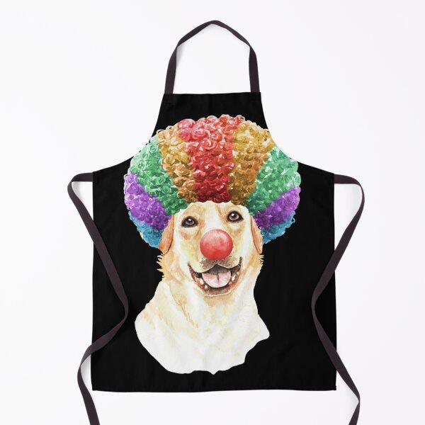 Watercolor  Labrador Retriever Clown Apron