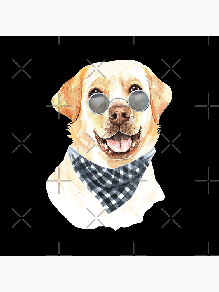 Watercolor  Labrador Retriever Cool Biker by dog-gifts