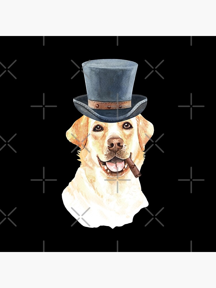 Watercolor  Labrador Retriever Top Hat by dog-gifts