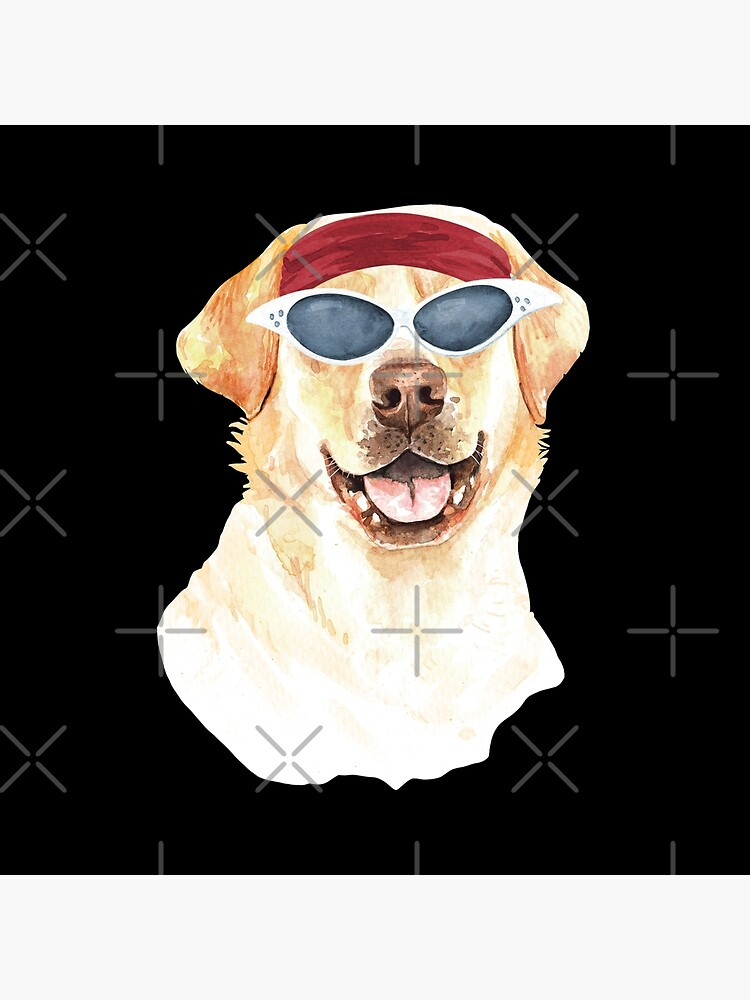 Watercolor  Labrador Retriever shades,gym,exercise, by dog-gifts