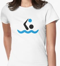 Water polo logo Womens Fitted T-Shirt