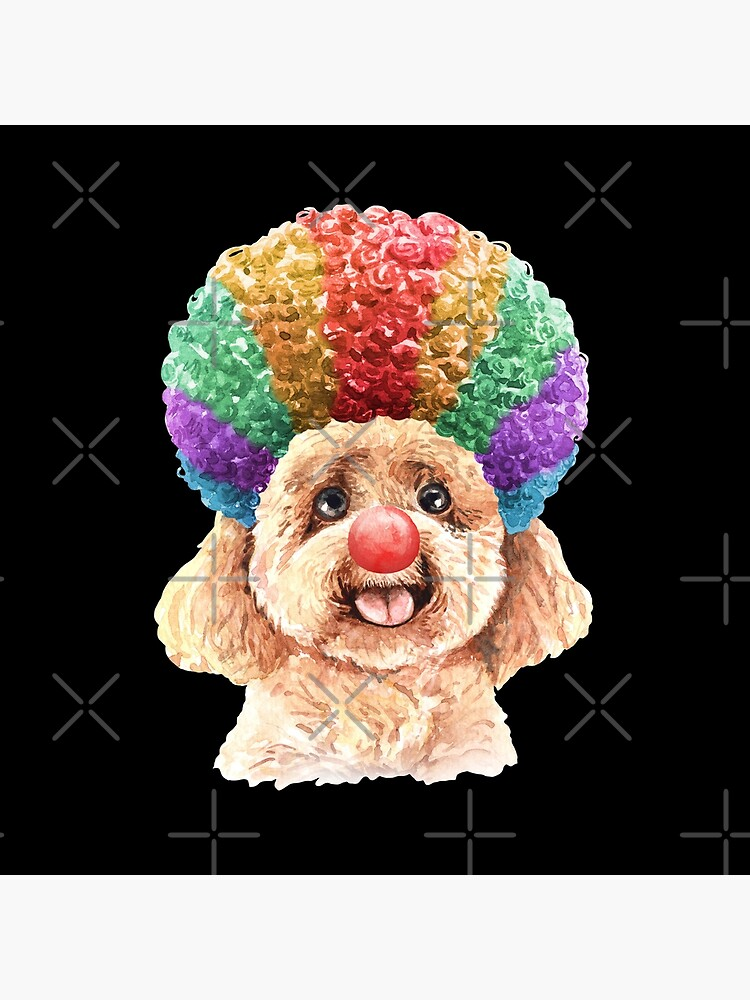 Watercolor  Poodle Clown by dog-gifts