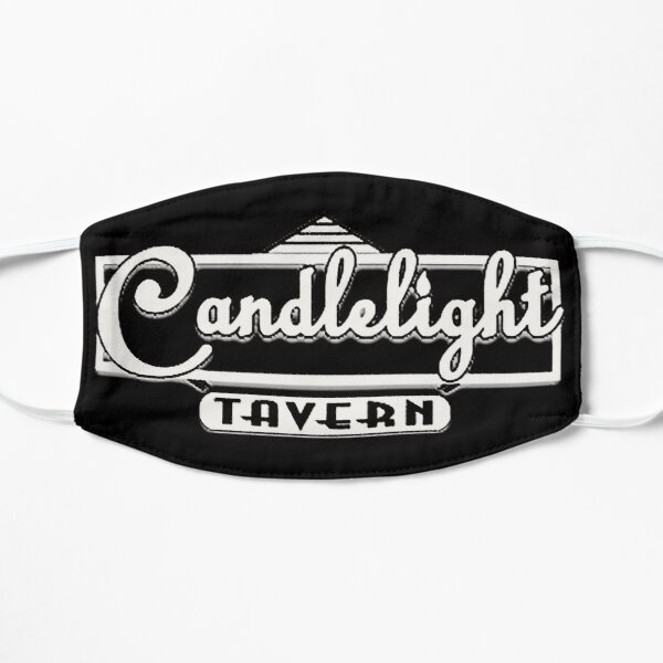 Candlelight Tavern Denver, CO USA Black and White Logo Mask