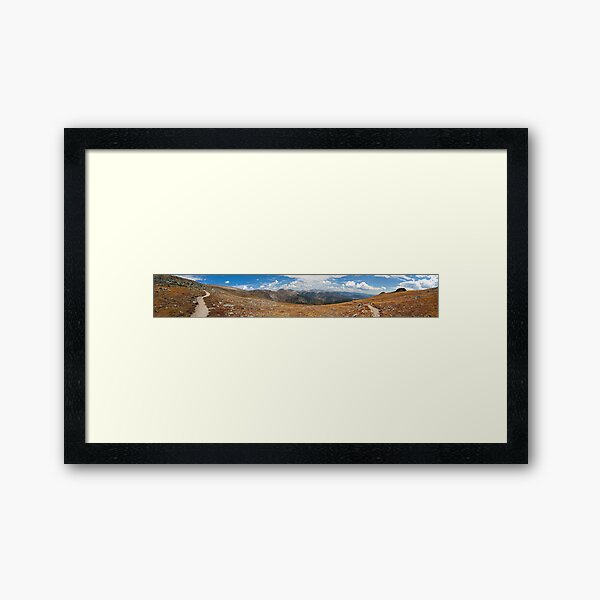 On The Way To Flattop Mountain, Colorado Framed Art Print