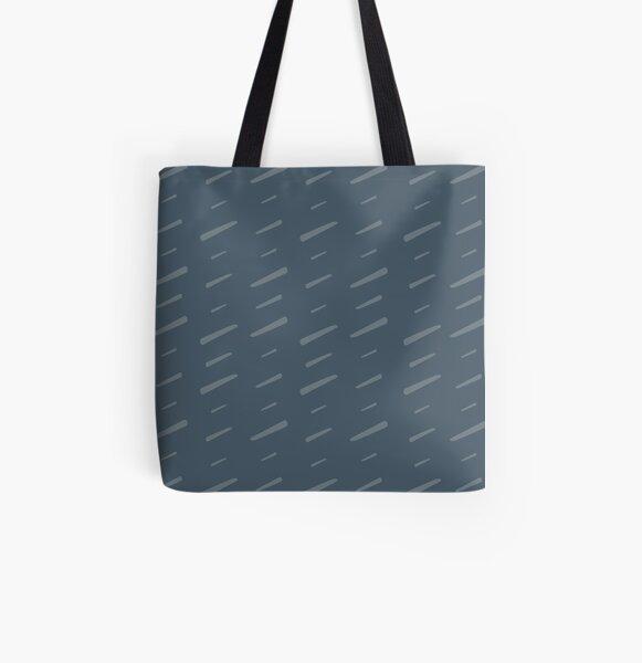 Slash Slash - greyed petrol All Over Print Tote Bag