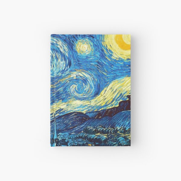 Starry Night Painting by Vincent van Gogh Gifts for women Hardcover Journal