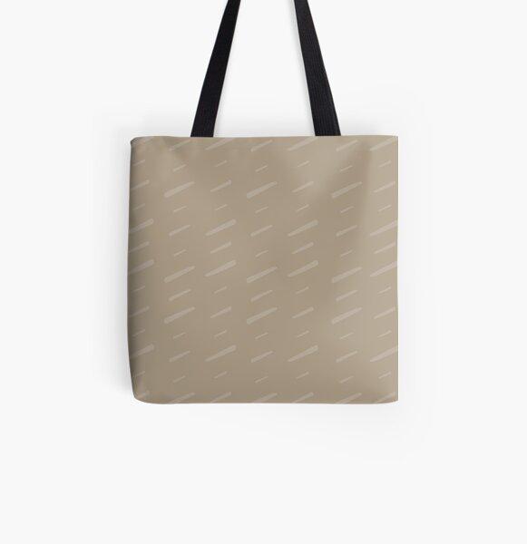 Slash Slash - soft taupe All Over Print Tote Bag