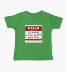 Hello My Name is Inigo Montoya Baby Tee