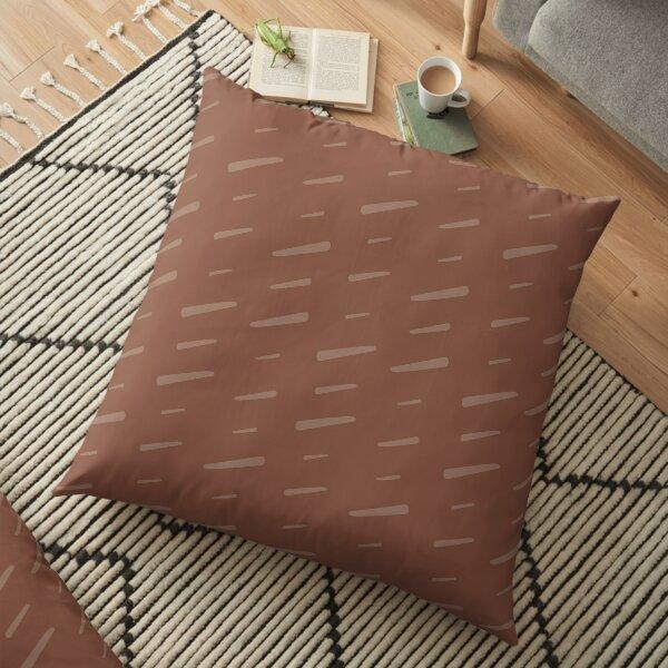 Slash Slash - rusty brown Floor Pillow