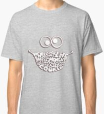 Cookie Monster Typography (white) Classic T-Shirt