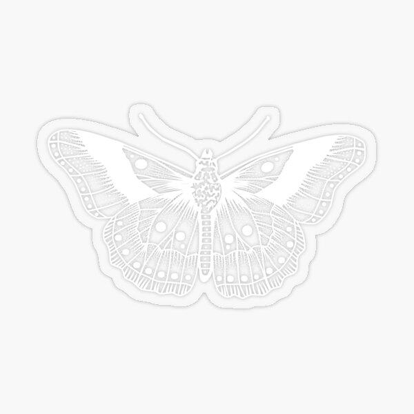 White Butterfly Tattoo Transparent Sticker
