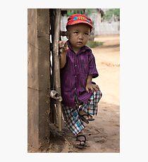 red cap Photographic Print