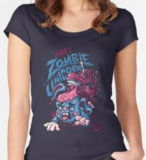 Zombie Unicorn Attacks Women's Fitted Scoop T-Shirt