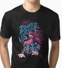 Zombie Unicorn Attacks Tri-blend T-Shirt