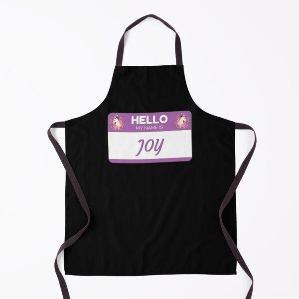 Unicorn Hello My Name Is Joy - Gift For Someone Called Joy Apron