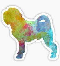 Griffon Belge in watercolor Sticker
